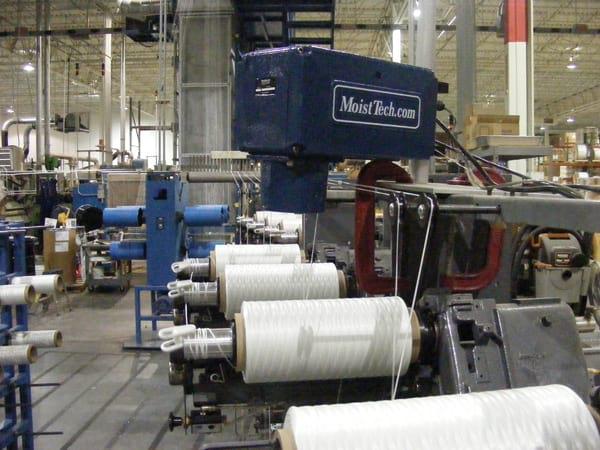 textile moisture in string