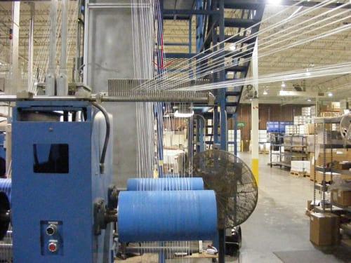 blue moisture sensor on textile